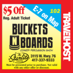 buckets n boards branson coupon