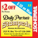 dolly parton's stampede coupon branson